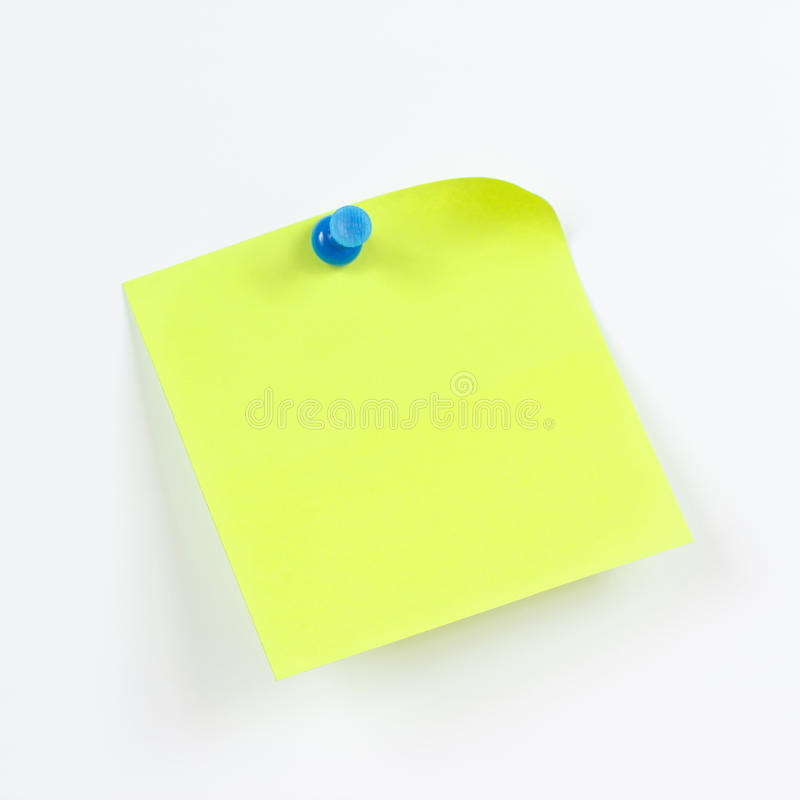 Groene sticker op witte raad van bericht royalty-vrije stock afbeelding
