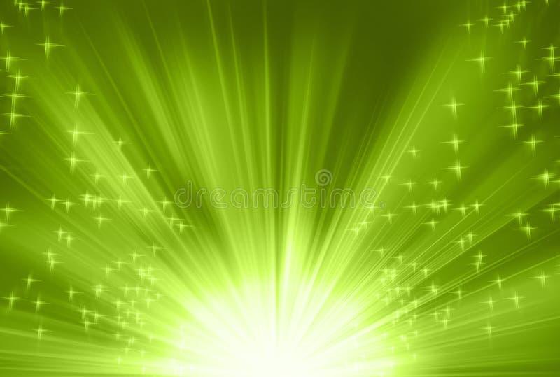Groene stralen vector illustratie