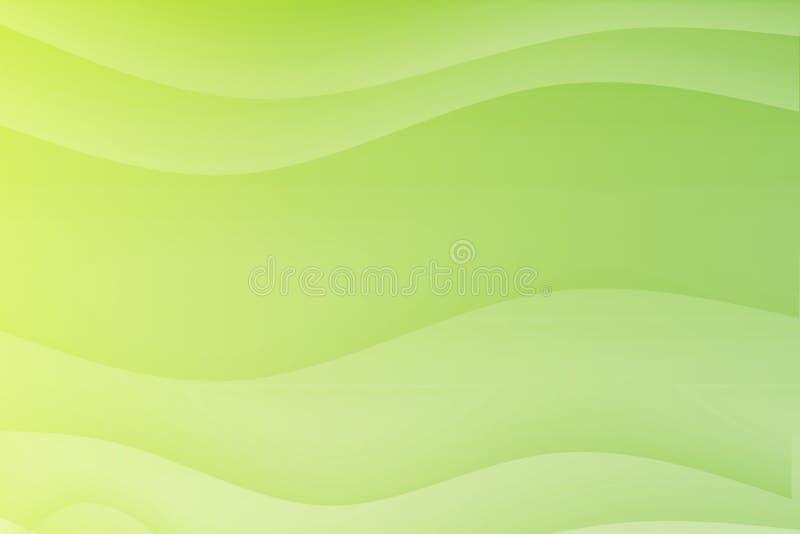 Groene Stromende Kalmerende Golven royalty-vrije illustratie