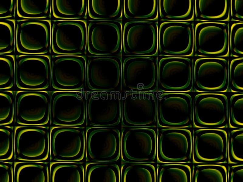 Groene symmetrieachtergrond vector illustratie