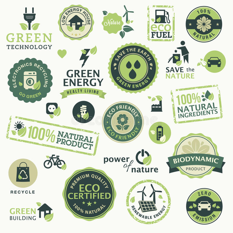 Groene technologie stock illustratie