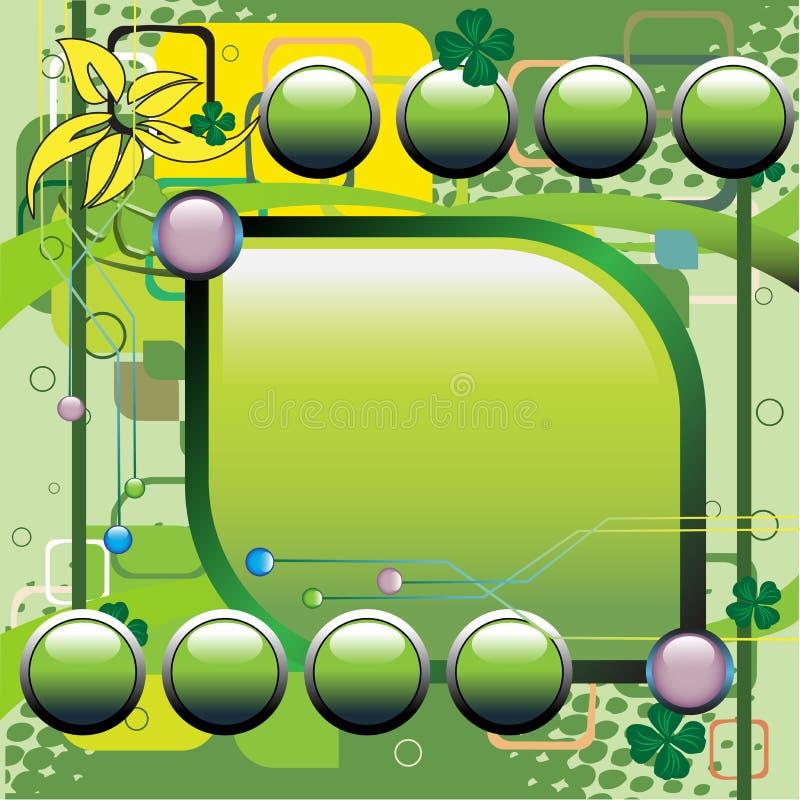 Groene technologieachtergrond royalty-vrije illustratie