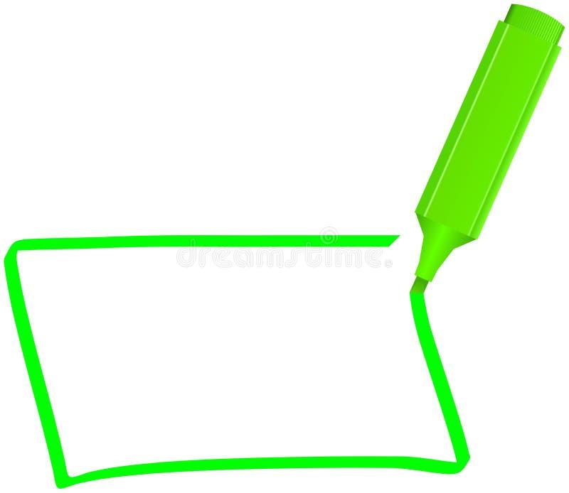 Groene teller vector illustratie