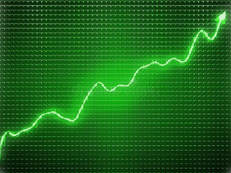 Groene tendens als successymbool of financiële groei royalty-vrije illustratie