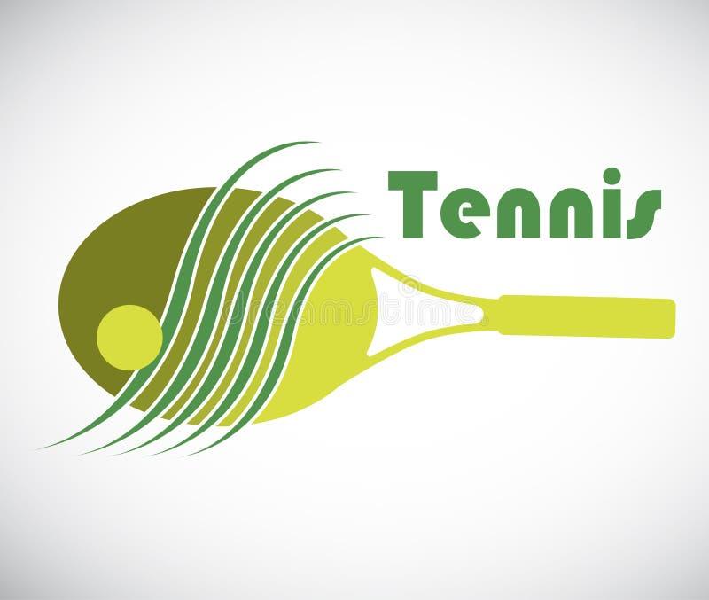 Groene tennisachtergrond stock illustratie