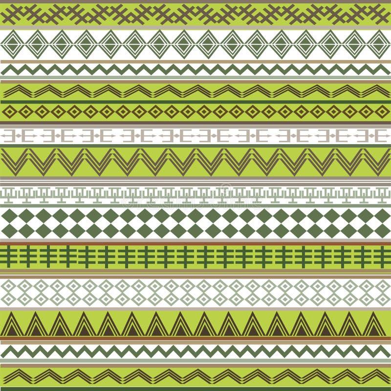 Groene textuur met Afrikaanse motieven stock illustratie