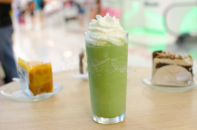 Groene thee smoothie royalty-vrije stock foto