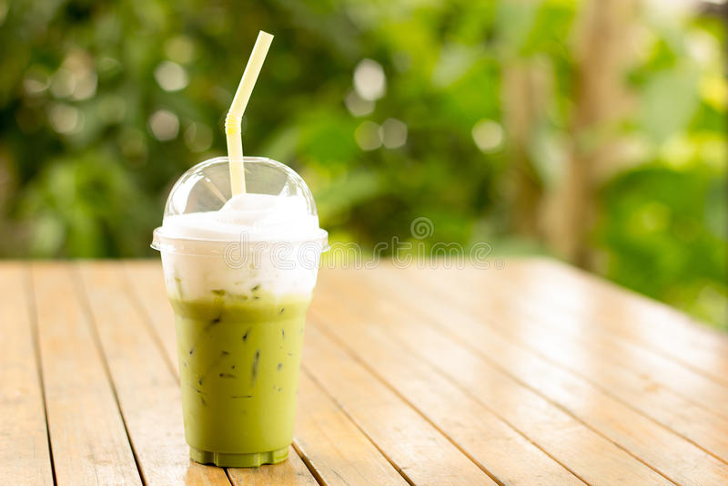 Groene thee smoothie stock afbeelding