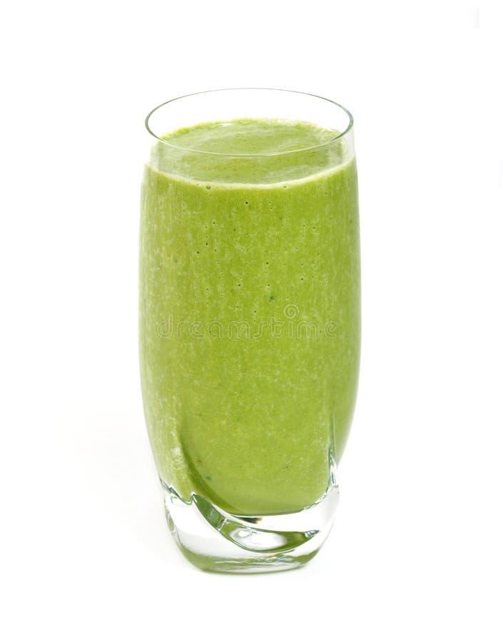 Groene thee smoothie stock afbeeldingen