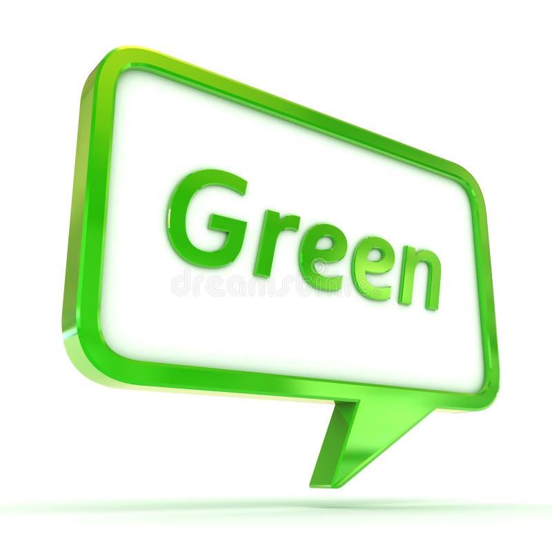Groene toespraakbel stock foto