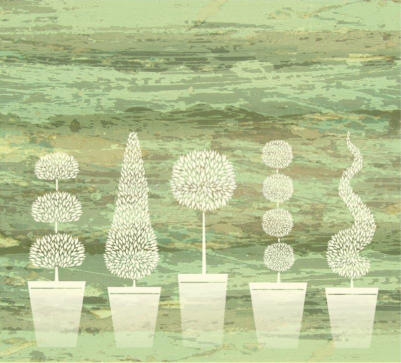 Groene topiary vector illustratie