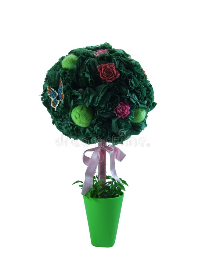Groene Topiary van document stock foto's