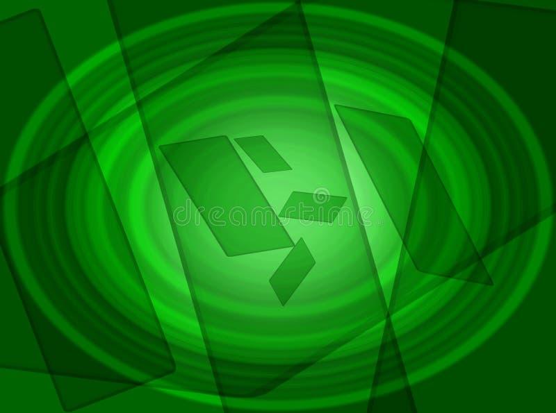 Groene uitstekende achtergrondonduidelijk beeldgevolgen vector illustratie