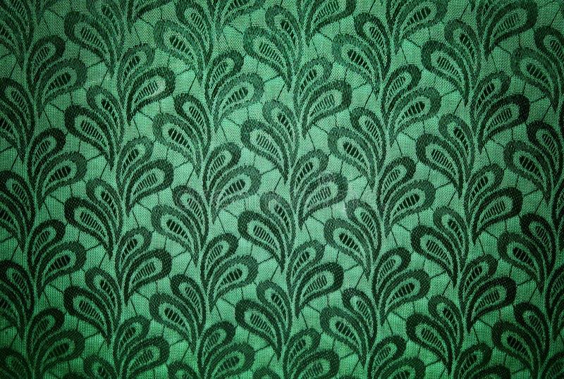Groene uitstekende stoffentextuur stock foto's