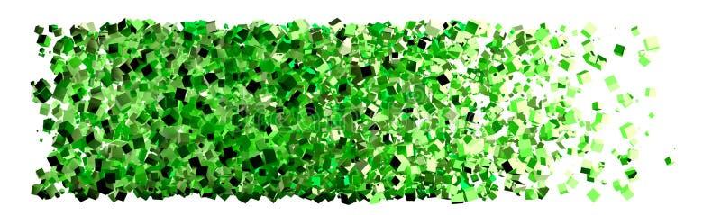Groene vakjes samenvatting royalty-vrije illustratie