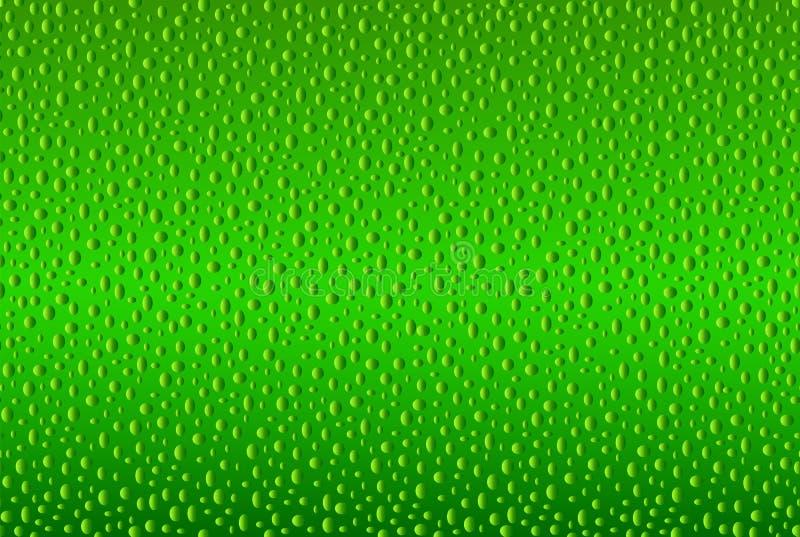 Groene van de de huidoppervlakte van de kalkcitrusvrucht de textuurillustratie royalty-vrije illustratie