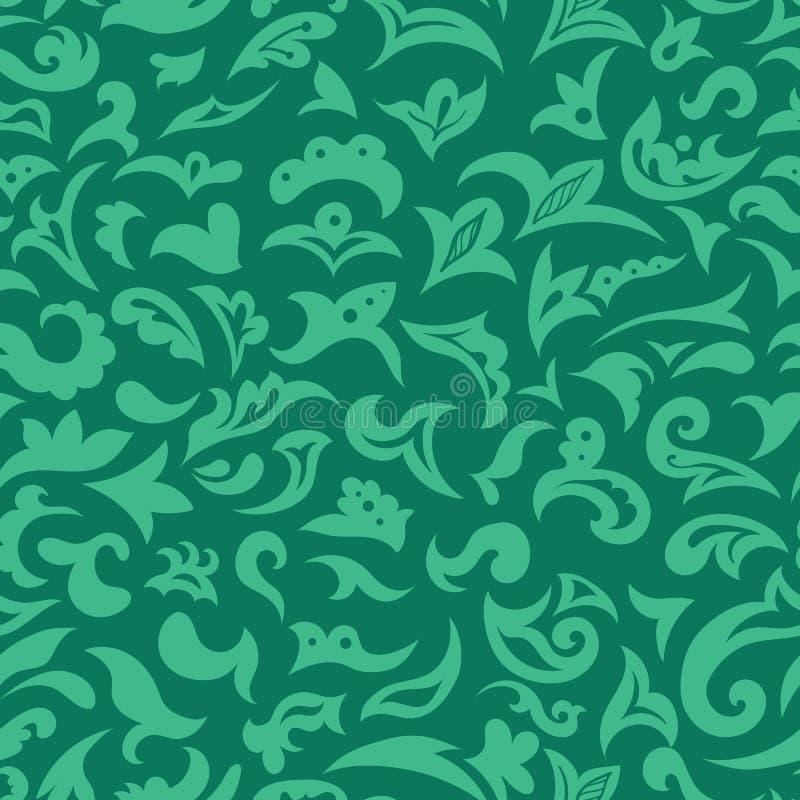 Groene Vector Arabische Islamitische Naadloze Patroontextuur stock illustratie