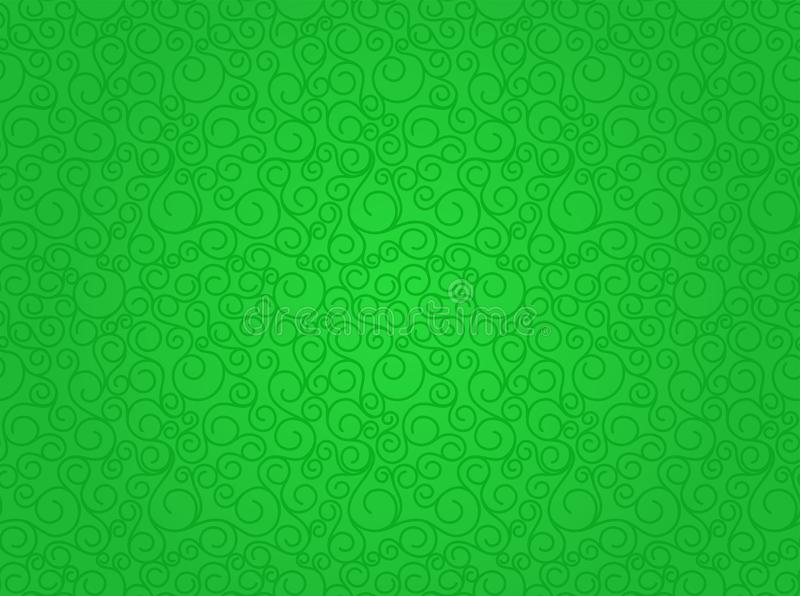 Groene vector naadloze abstracte achtergrond stock illustratie