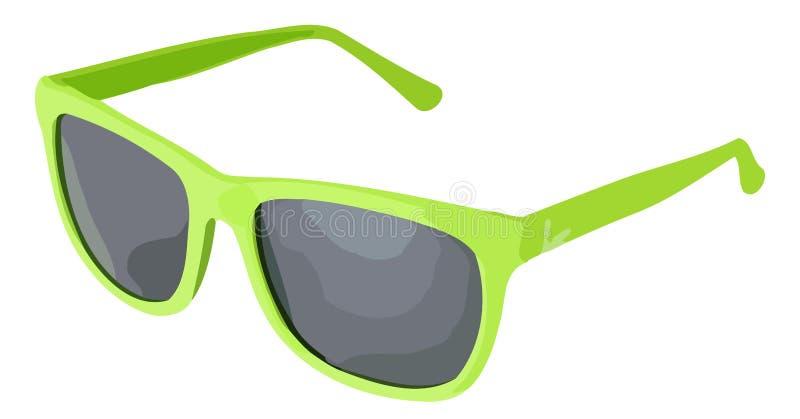 Groene Vector sunglass royalty-vrije illustratie