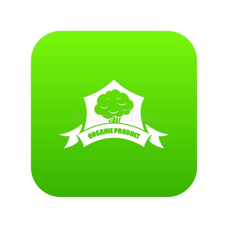 Groene vector van het biologisch product de plantaardige pictogram stock illustratie
