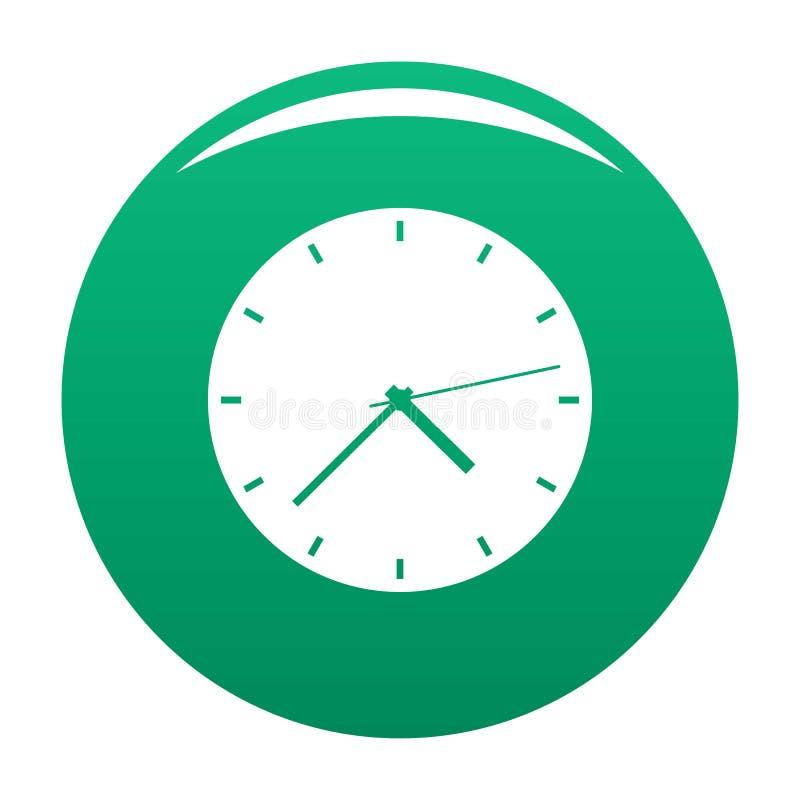 Groene vector van het klok de moderne pictogram stock illustratie