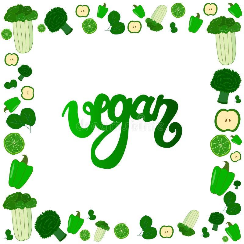 Groene veganist royalty-vrije illustratie