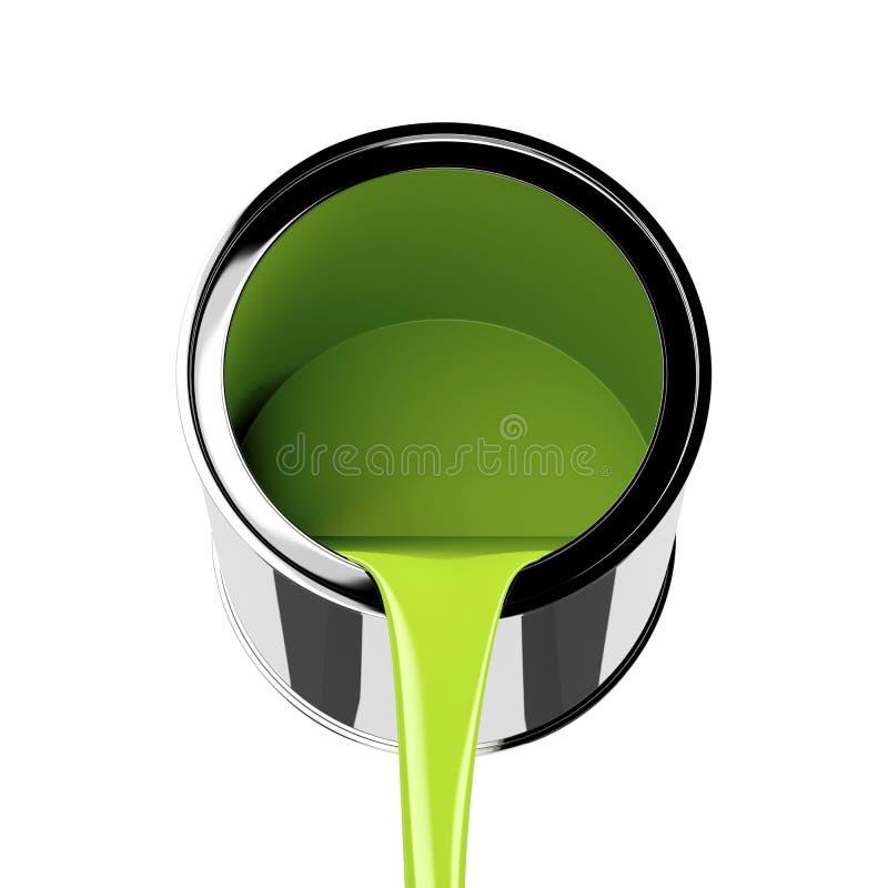 Groene Verf royalty-vrije illustratie