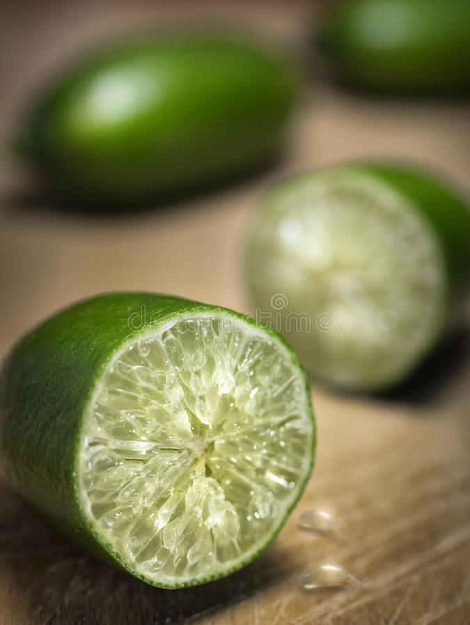 Groene vingerkalk royalty-vrije stock fotografie
