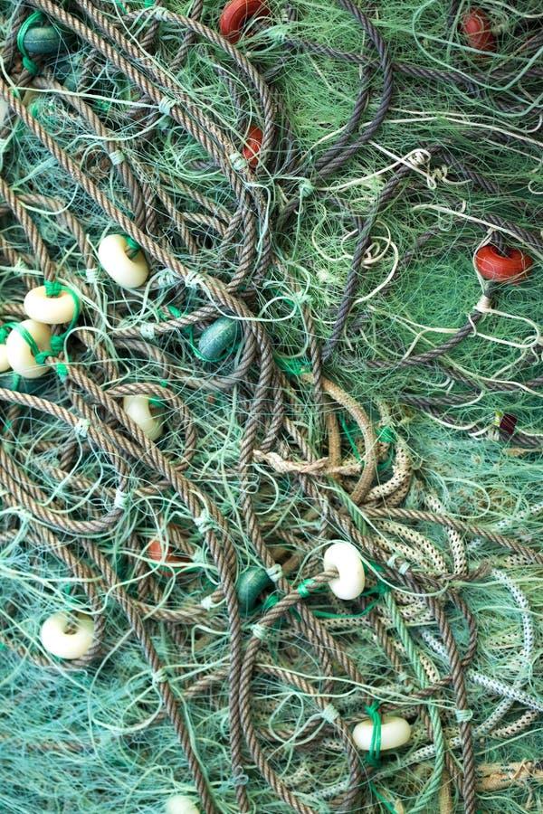 Groene visserijnetten royalty-vrije stock fotografie