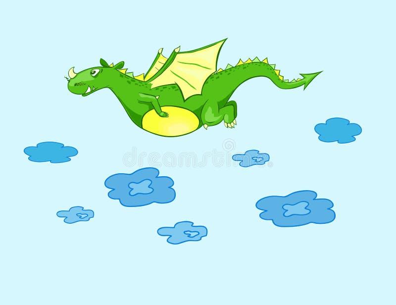 Groene vliegdraak stock afbeeldingen