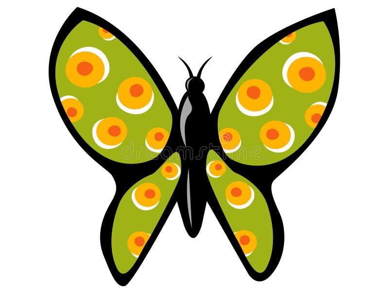 Groene vlinder stock illustratie
