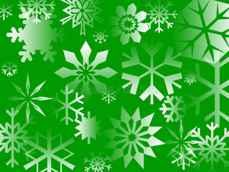 Groene Vlokken stock illustratie