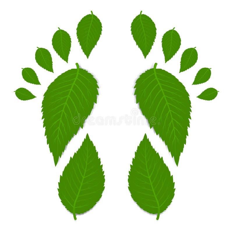 Groene voetafdruk stock illustratie