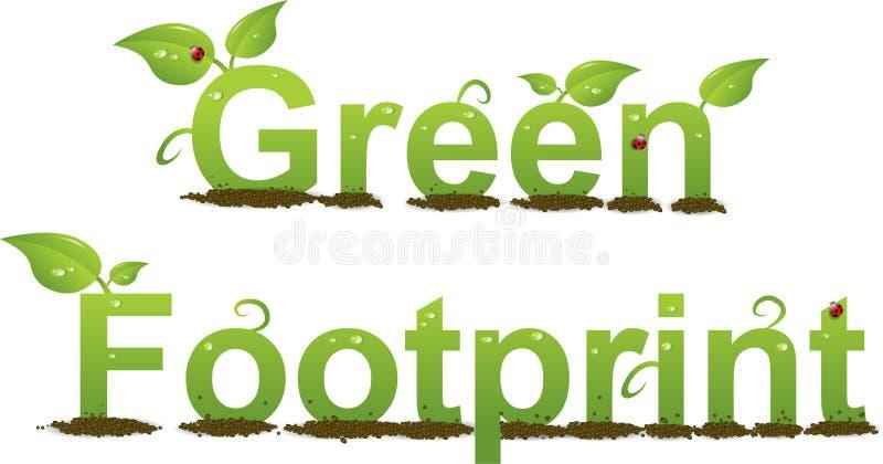 Groene Voetafdruk vector illustratie