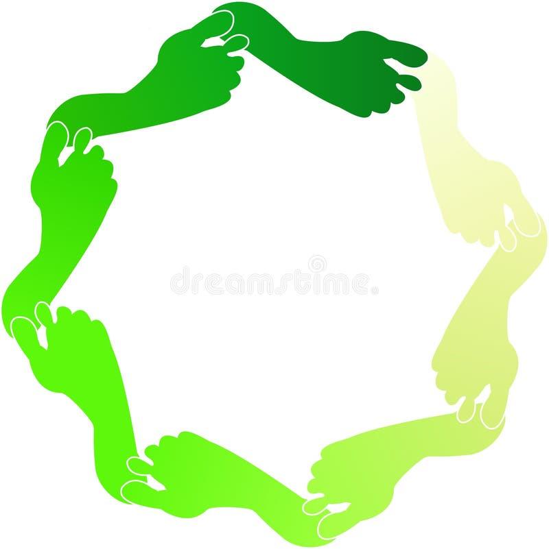 Groene Voetafdrukken stock illustratie