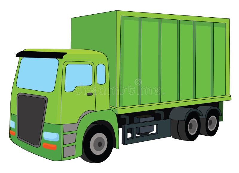 Groene Vrachtwagen stock illustratie