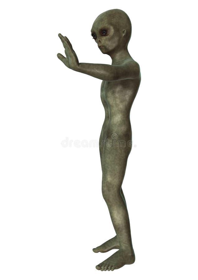 Groene Vreemdeling op Wit vector illustratie