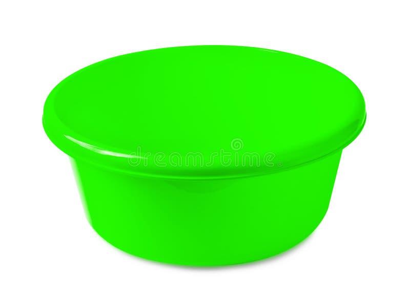 Groene waskom of het mengen van kom stock foto
