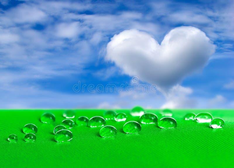 Groene waterdichte stof met waterdrops royalty-vrije stock foto's