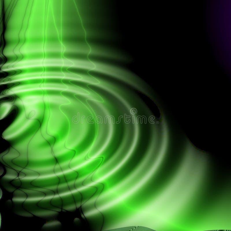 Groene waterfantasie stock illustratie