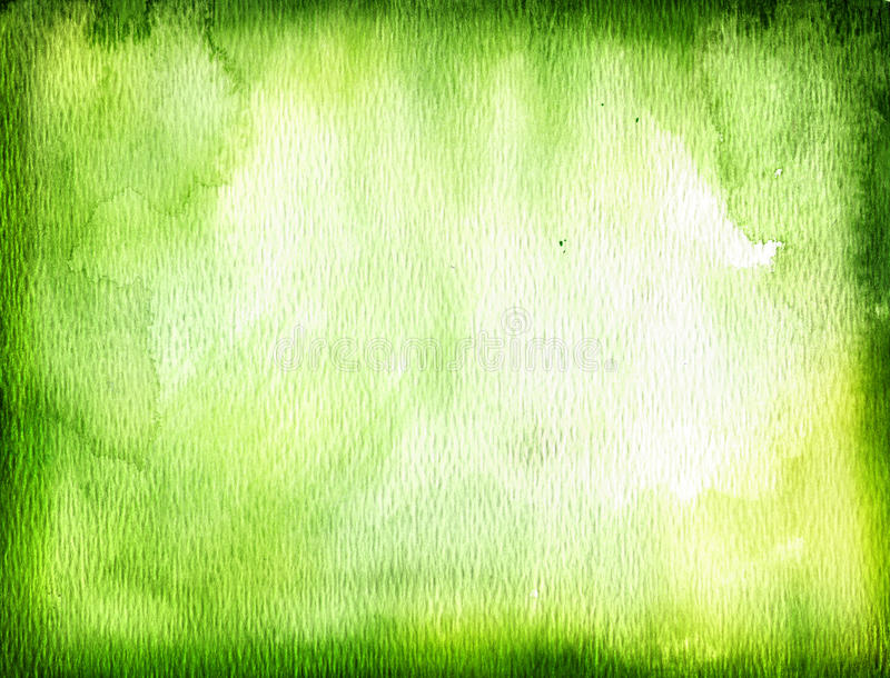Groene waterverfachtergrond royalty-vrije illustratie