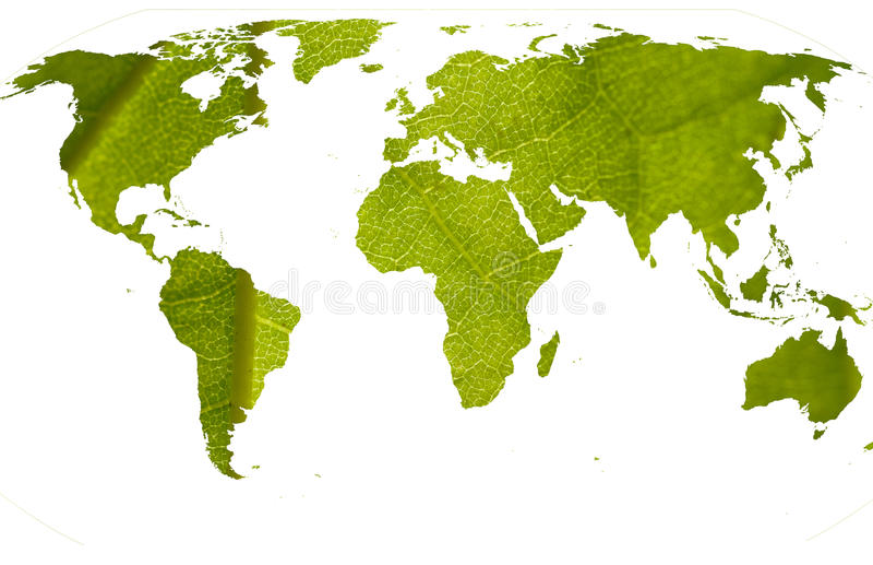 Groene wereld royalty-vrije stock foto's