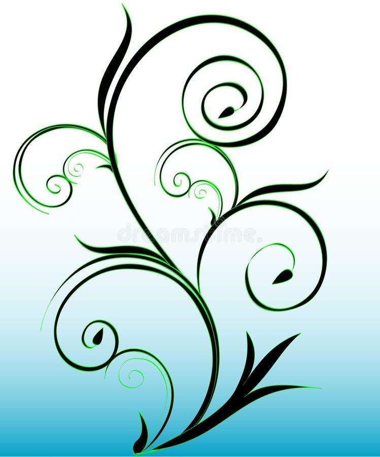 Groene wervelingen royalty-vrije illustratie