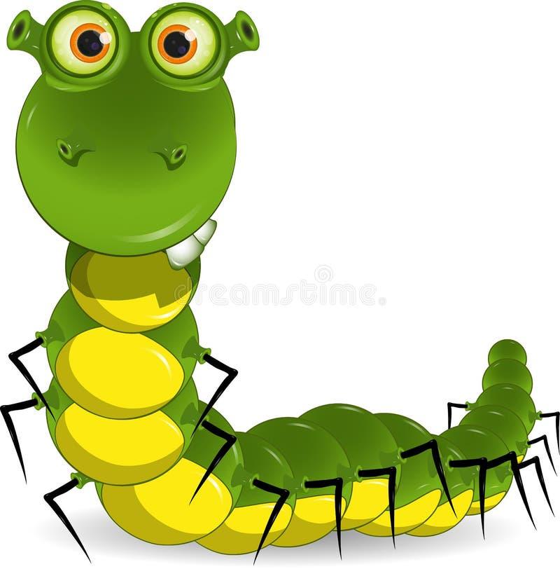 Groene worm vector illustratie