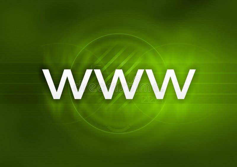 Groene WWW stock illustratie