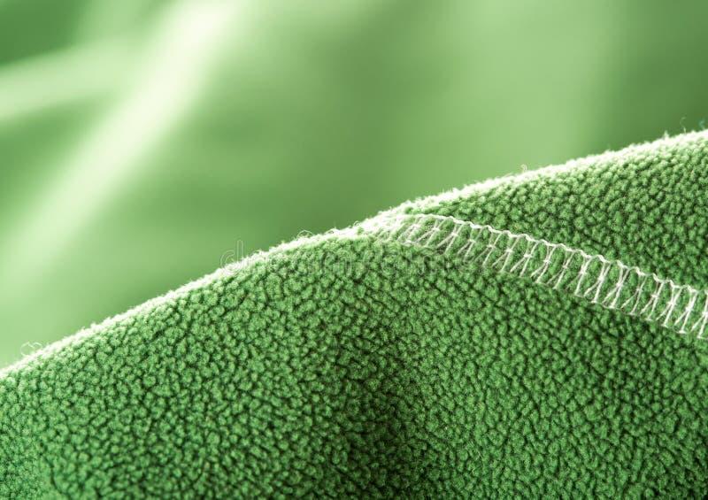 Groene zachte synthetische vacht royalty-vrije stock fotografie