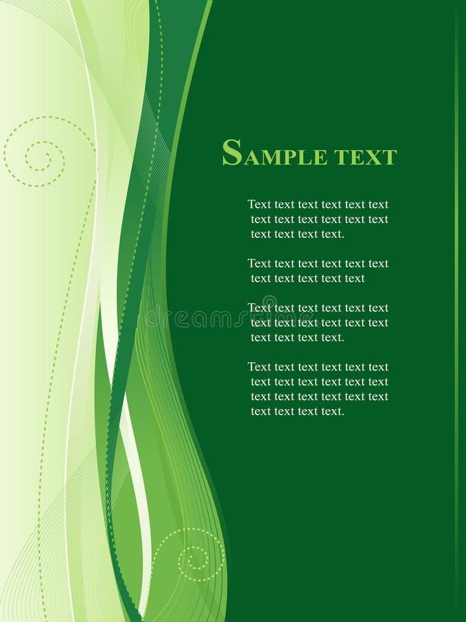 Groene zaken, Webmalplaatje stock illustratie