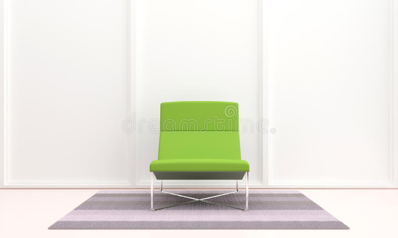 Groene zetel in binnenland royalty-vrije illustratie