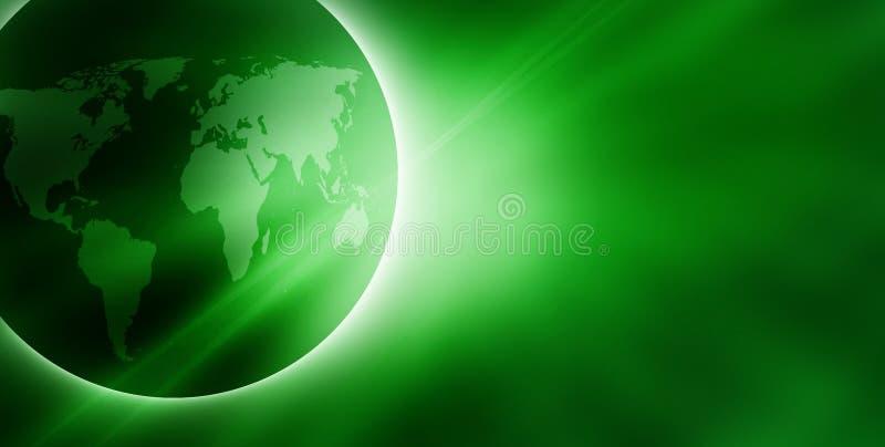 Groene zonsopgang royalty-vrije illustratie