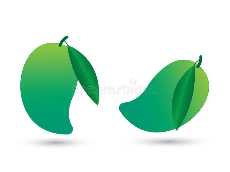 Groene zure en verse mango vectorillustratie vector illustratie
